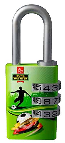 BURG-WÄCHTER Vorhängeschloss, 5 mm Bügelstärke, 2 Schlüssel, 91 F 30 Kicker SB
