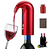 Electric Wine Aerator Pourer, Smart Automatic Wine Dispenser, Filter Aerating Pourer and Decanter...