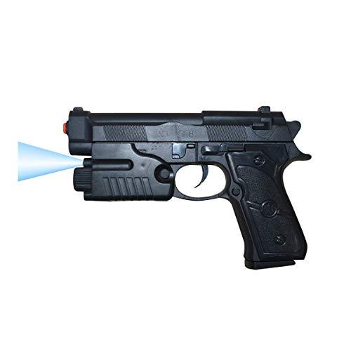 Mediawave Store - Pistola de juguete para niños con balas de bolas de 6 mm y luz, pistola para niños, ideal para juegos al aire libre, para fiestas 285510 (LED azul).