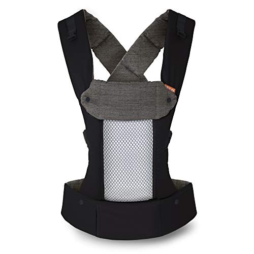 Beco 8 Portabebés – Portabebés de soporte y adaptable para bebés de 7 a 45 libras con panel de malla fresca convertible (Black)