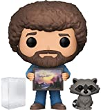 Funko Pop! Television: The Joy of Painting - Bob Ross with Raccoon #558 Vinyl Figure (Includes Compatible Pop Box Protector Case)