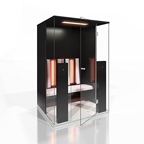 Infrarood cabine | Infrarood sauna Select Line 2 voor twee personen zwart hoogglans van b-intense by Physiotherm - een aanbieding van welcon-wellness.de