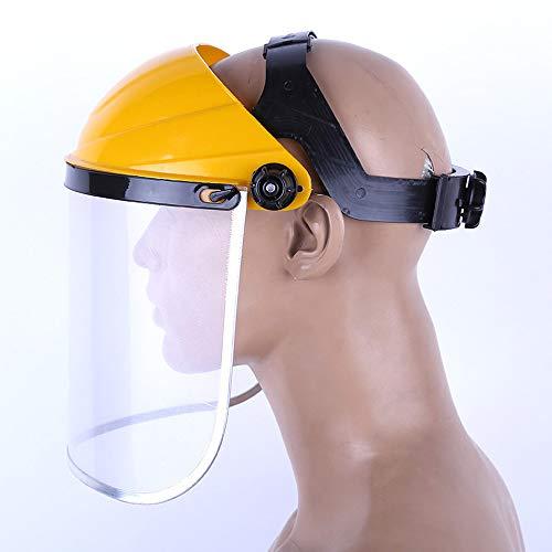 Cubierta protectora para la cara Seguridad Protección para los ojos Escudo PVC montado en la cabeza Visor abatible A prueba de salpicaduras ajustable
