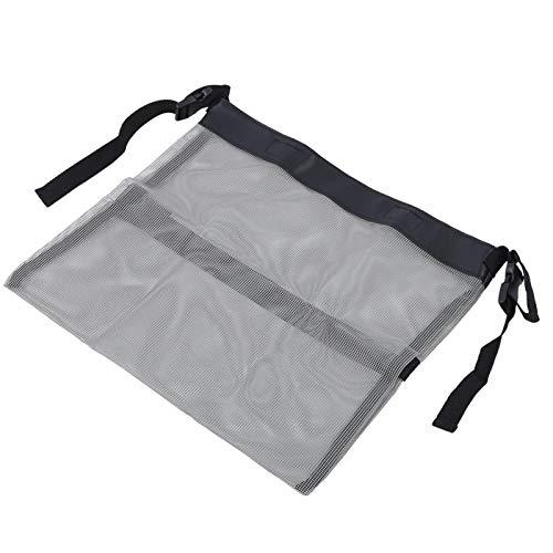 Jeanoko Práctico bolso de almacenamiento multifuncional del bolso de malla del cochecito para los niños para al aire libre (gris)