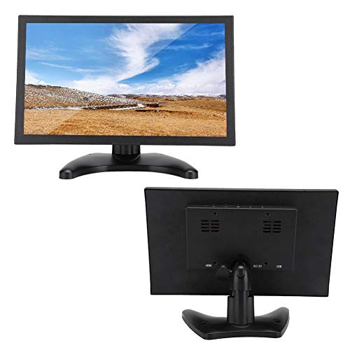ASHATA capacitief touchscreen, 11,6-inch multitouch-HD-display, HDMI/VGA-industriële monitor G1116-R voor PC, TV, CCTV, camera, veiligheid, computer, (2556 100-240 V)