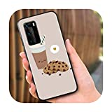 Ok But First Coffee pour Huawei P40 P30 P20 Pro P10 P9 P8 Lite E Plus 5G 2019 Coque de protection en...