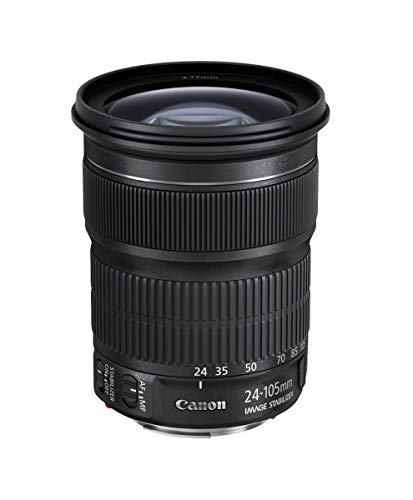 Canon Obiettivo con Zoom, EF 24 -105 mm f/3.5-5.6 IS STM, Nero
