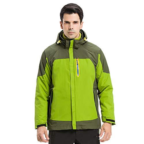 Vestes d'extérieur 3-en-1 Vestes de Ski pour Les Femmes Hommes, Imperméable Veste de Montagne avec intérieur Polaire Coupe-Vent Costume de Ski-G M