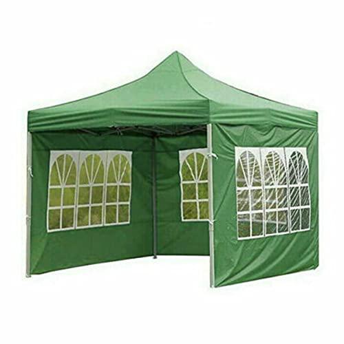 HEZHU Cenador plegable de 3 x 2 m, para fiestas, jardín, impermeable, color verde