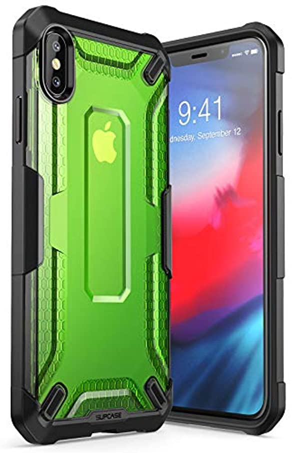 iPhone Xs Max Case, SUPCASE [Unicorn Beetle Series] Premium Hybrid Protective TPU and PC Clear Case for iPhone Xs Max Case 6.5 Inch 2018 Release (Green)