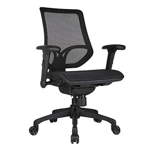 WORKPRO 1000 Series Mid-Back Mesh Task Chair, Black