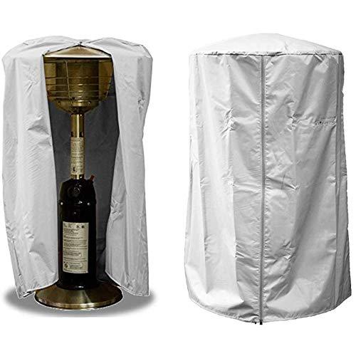 LMDH Calentador de Patio, Cubierta, 210D for Trabajo Pesado a Prueba de Agua Cubierta de Mesa Calentador con Cremallera (Color : Gray)