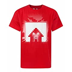 Minecraft Camiseta de Manga Corta Oficial Modelo para Niños - Survival Glow In The Dark