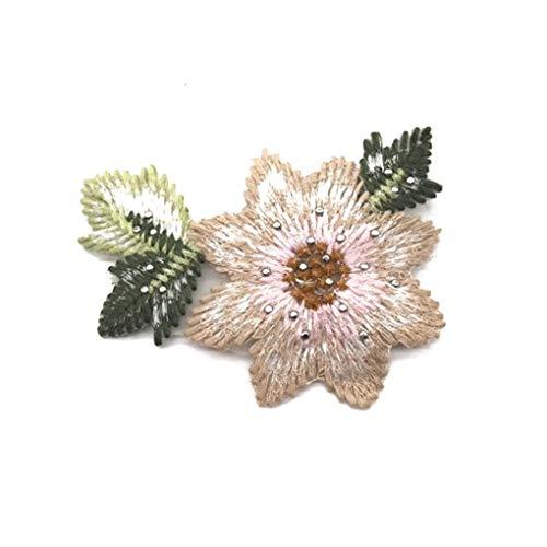 Babysbreath17 Costura de la Mano Flores de Bolas de Bricolaje Ropa Bordada Parches Apliques Traje artesanía Accesorios de la Goma