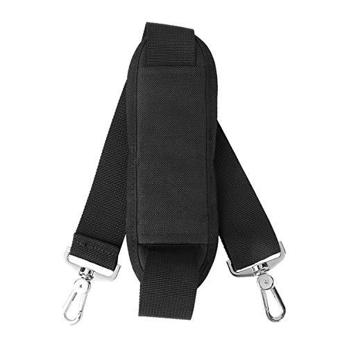 Pixnor Sangle d'épaule réglable rembourrée avec crochets pivotants pour sacs et mallettes de voyage (Noir)