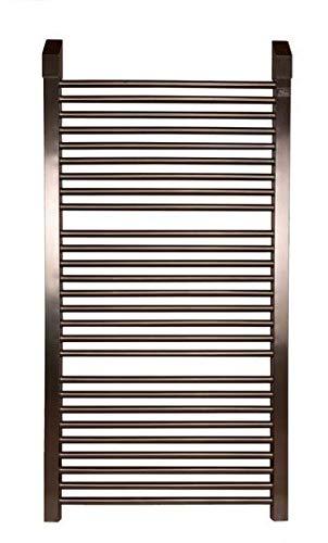 Radiatore scaldasalviette in acciaio inox (800h x 645b, spazzolato/curvo)