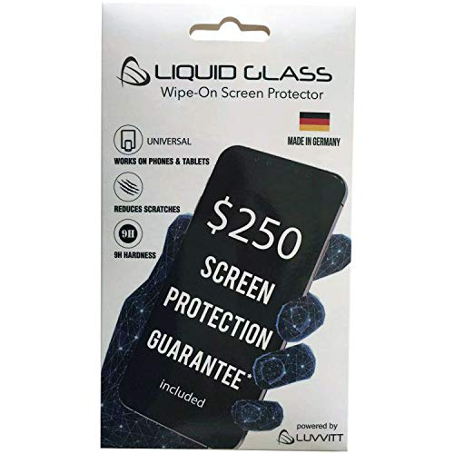 Luvvitt Liquid Glass Screen Protector with $250 Screen Replacement Warranty Nano Protection for All Apple Samsung and Other Phones Tablets iPhone iPad Galaxy Models S20 11 and More - $250 Guarantee