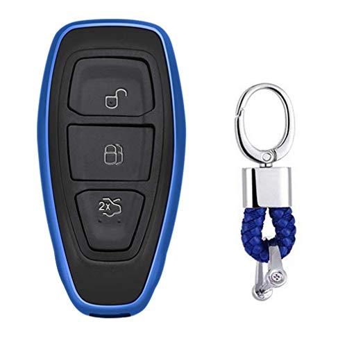 günstig Ford Mondeo Focus 3 MK3ST Kuga Fiesta Escape Blue Keyless Entry Key Shell für EcoSport… Vergleich im Deutschland