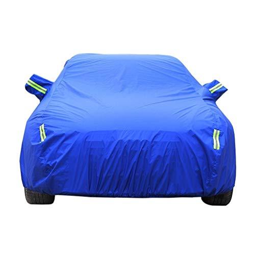 Autoabdeckung, kompatibel mit Bentley Continenta Autoabdeckung, Outdoor Limousine, Auto, wasserdicht, winddicht, Sonnenschutz, UV-beständig, staubdicht, schneefest, kratzfest, Vollgarage blau