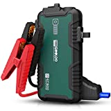 GOOLOO 1500 Amp Portable Car Jump Starter GT1500 with QC3.0 Port,12V Lithium Battery Booster Power Pack for Up to 8.0L Gas & 6.0L Diesel Engines,Water-Resistant Jump Boxes for Vehicles ,Green