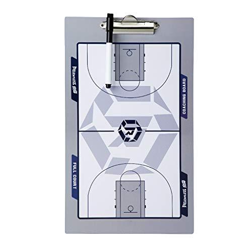 Táctica Pizarra Magnética Baloncesto Pizarra, 40 X 24 cm, Material Plástico Reforzado, Baloncesto Coachboard de Entrenamiento, Diseño de Dos Caras, Apariencia Elegante