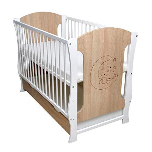 Sonoma - Lettino per bambini, con cassetto, materasso 120 x 60 cm