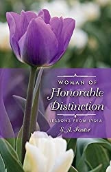 purple tulip, green background, woman of honorable distinction book cover