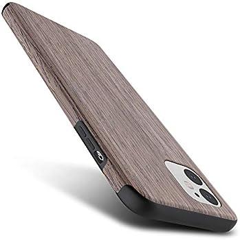 B Belk 5.4 Inch Soft Wood Rubber Bumper Case for iPhone 12 Mini