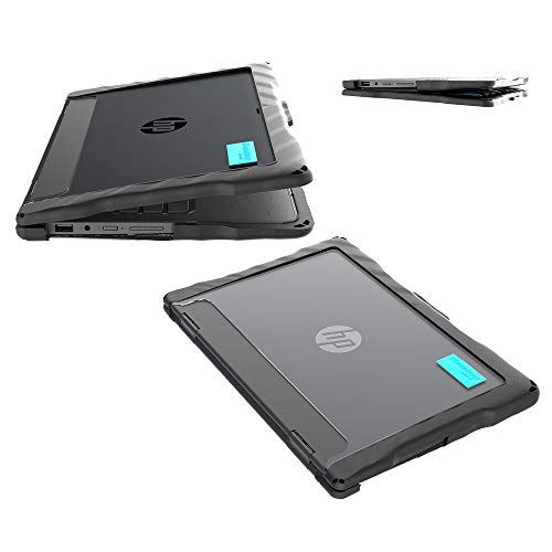 Gumdrop DropTech Case Designed for HP ProBook x360 11 EE G3 and HP ProBook x360 11 G4 EE Laptop for K-12 Students, Teachers, Kids - Black, Rugged, Shock Absorbing, Extreme Drop Protection