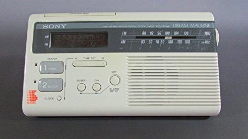 Sony Dream Machine Bar Cream Colored Radio Clock Dual Alarm ICF-C220W