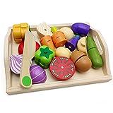 lijun, Juego clásico de Madera, simulación de Cocina, Serie de Juguetes, Juego de Frutas y Verduras, Juguetes Montessori, Regalos de educación temprana