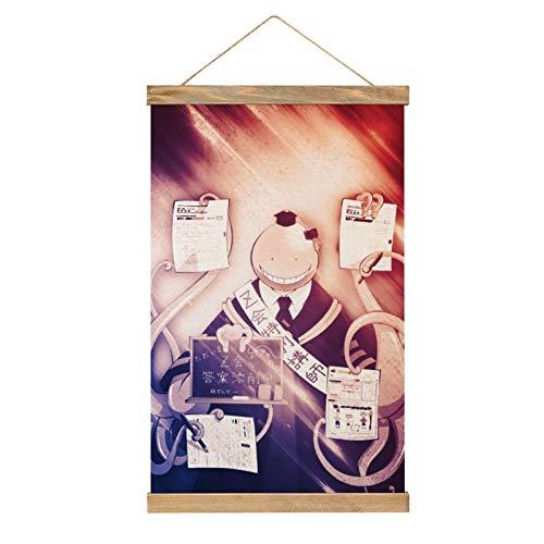 WPQL Lienzo de alta calidad para colgar un cuadro, anime Assassination Classroom Koro-sensei toma un cartel, moderno lienzo mural, fácil de instalar