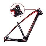 carbon 29er frame - TRIFOX 3K Carbon Fiber Mountain Bike Frame 27.5/29-Inch Glossy T800 Ultralight MTB Frame+Seat Clamp+Headset (19inch)