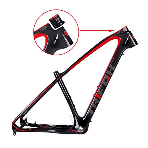 TRIFOX 3K Carbon Fiber Mountain Bike Frame 27.5/29-Inch Glossy T800 Ultralight MTB Frame+Seat Clamp+Headset (17inch)