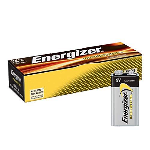 Energizer Industrial Alkaline 6LR61 EN22 9V E-Block, 12er Pack