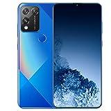 PEARFALL Teléfono móvil, Smartphone Desbloqueado 5G con Pantalla de visualización Completa de 7,2 Pulgadas de 12GB RAM + 512GB ROM, Tarjeta Dual Dual Standby, 5800mAh Batería de Iones de Litio,Azul