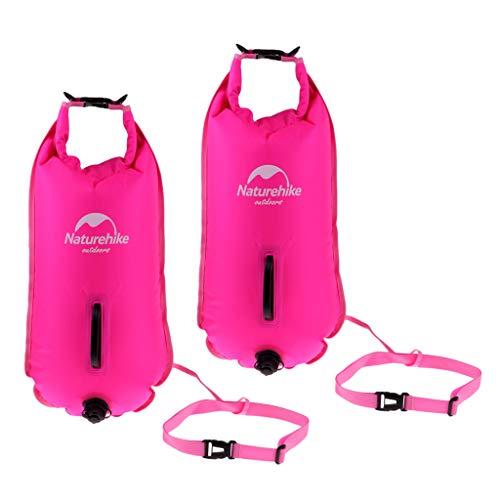 sharprepublic Paquete de 2 Bolsas de Flotador de Seguridad para Natación para Nadadores, Triatletas, Kayakistas