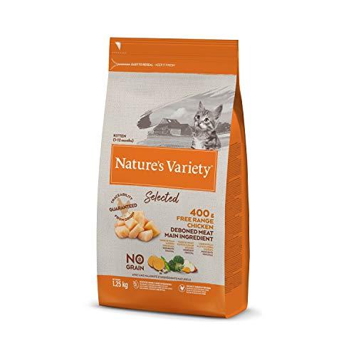 Nature's Variety Selected - Pienso para gatitos con pollo campero deshuesado 1,25 Kg