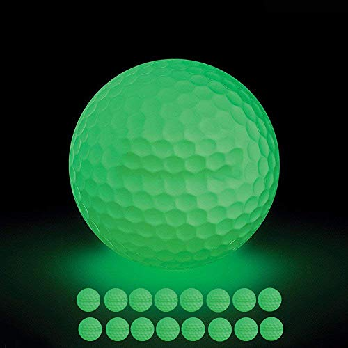 VintageBee 16 Pack Luminous Night Golf Balls Glow in The Dark Best Hitting Tournament Fluorescent Golf Ball Long Lasting Bright Luminous Balls No LED Inside