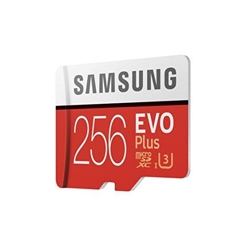 Samsung MB-MC256GA/EU EVO Plus 256 GB microSDXC UHS-I U3 Speicherkarte inkl. SD-Adapter Rot/Weiß