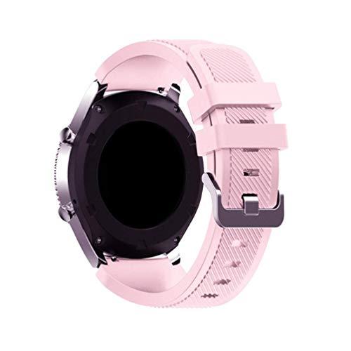 EMIOBAND Bandas 20mm Compatibles para Samsung Galaxy Watch Active/Galaxy Watch 3 41mm/Galaxy Watch Active 2 (40mm)(44mm)/Galaxy Watch 42mm/Gear s2/Gear Sport, Correa Deportiva de Silicona 20mm