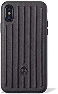 RIMOWA iPhone X/Xs Leather Groove Case Cover Black