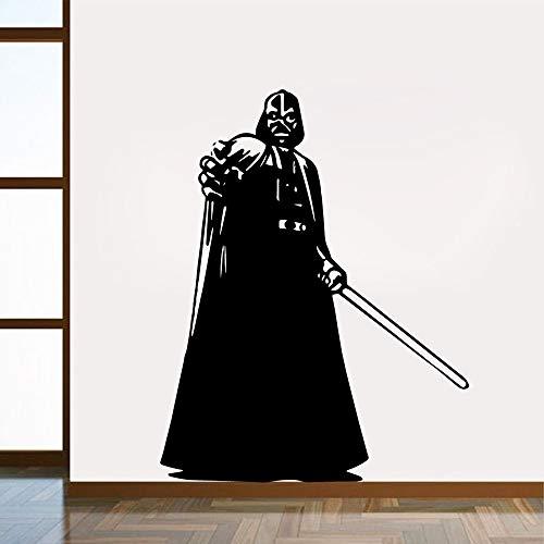 Hollywood Sci-Fi Movie Star Jedi Knight Darth Vader Night Sword Wars calcomanía vinilo pared pegatina niños habitación de niño dormitorio decoración del hogar mural cartel