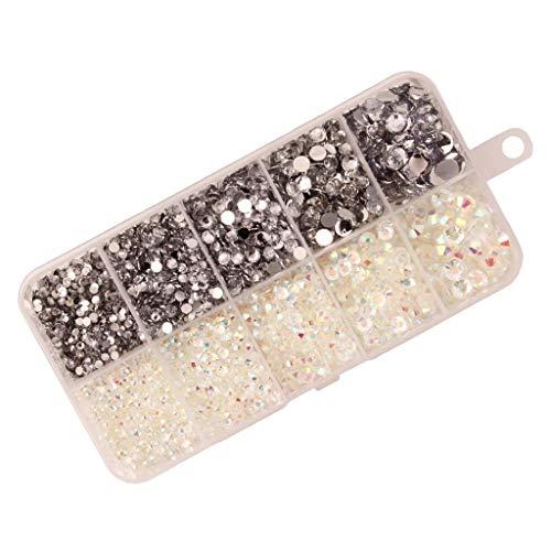 dailymall 8000x Flatback Strass Résine Gemmes Diamants de Dοs Plat pour Scrapbooking, Art des Ongles, Maquillage