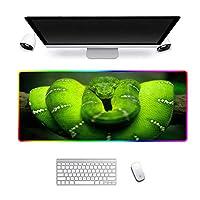 RGBゲーミングマウスマット大型LED光る拡張キーボードパッド、滑り止めラバーベース、コンピューターラップトップデスク用マウスパッド900x400x4mm