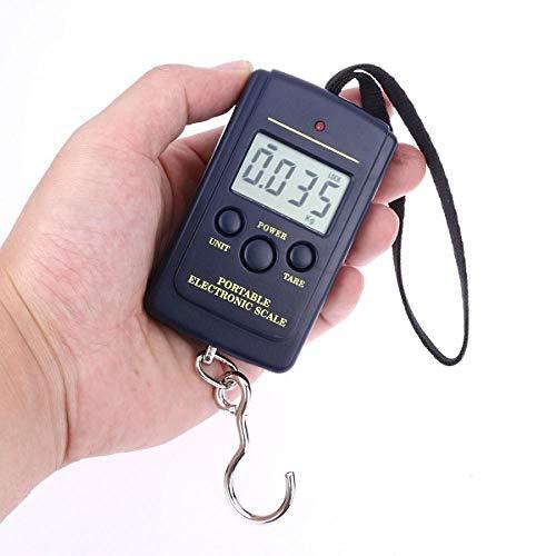 Generic 40 kg x 10 g Mini-Digitalwaage für das Angeln Reisegepäck Gewichtung Steelyard Hängen ElektronischeHakenwaage Küchengewicht Tool-Without_Backlight