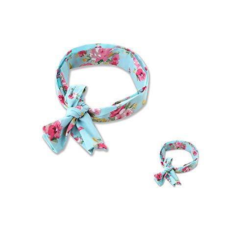 Hainice 2pcs Mami y yo Diademas patrón Floral Banda de Pelo Arco Nudo hazbands Headwrap Accesorios para el Cabello