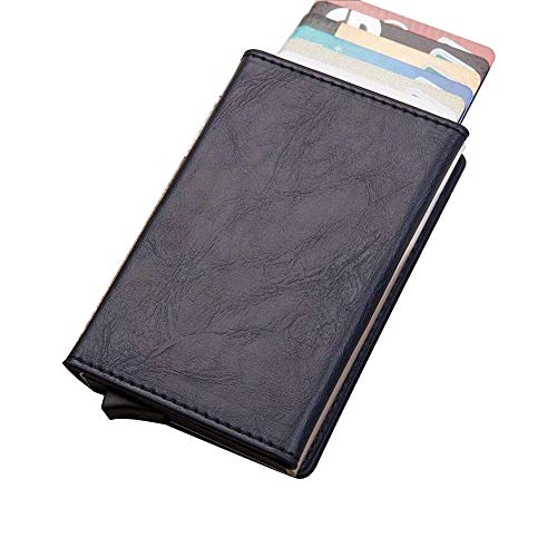 Hanks' Shop Karten-Paket charismatisches Beutel-Multifunktionsaluminium Automatonlike Pop-up-Kreditkarte-Paket (Schwarz) (Color : Blue)