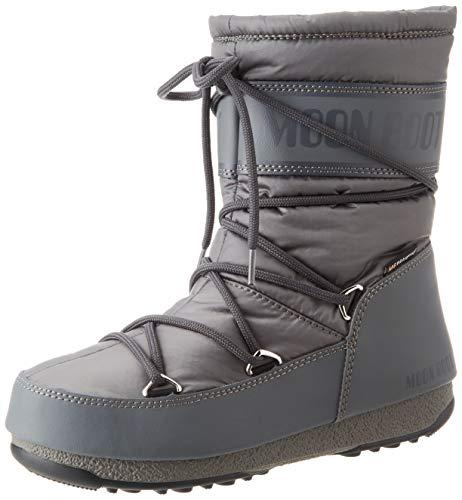 Moon Boot Damen Mid Nylon Wp Schneestiefel, Grau (Grigio 006), 39 EU