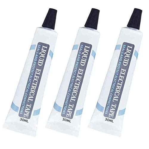 Liquid Insulation Tape High Temperature Resistant Flame Retardant Glue Waterproof for Electrical (Black 3pcs)